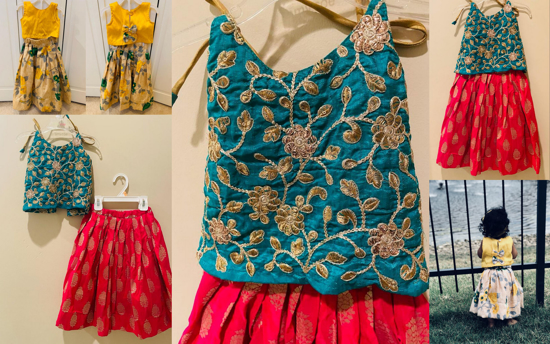 Picture of Kids 2-3Y combo lehenga outfit