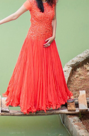 Picture of orange long frock