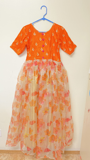 Picture of Organza Floral Long Frock