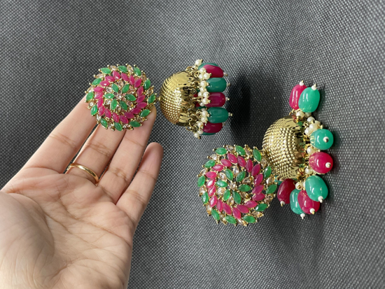 Picture of Brand new Stone Jhumkas