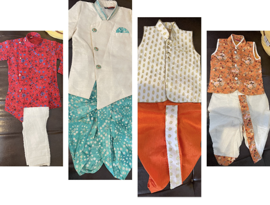 Picture of Set of 4 Boy's kurta's and Dhoti's -(0 to 18 months old)