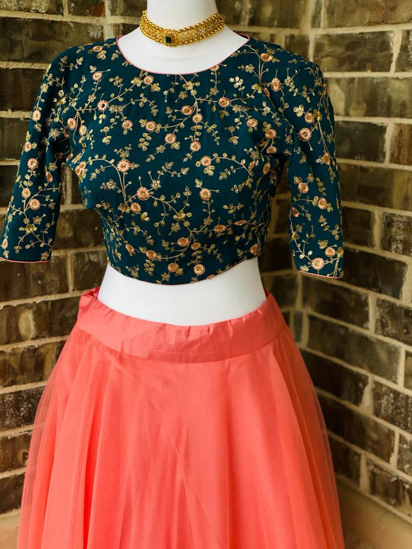 Picture of Brand  New Orange Skirt and Crop top
