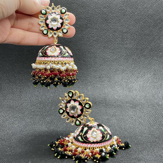 Picture of Hand painted jhumkas