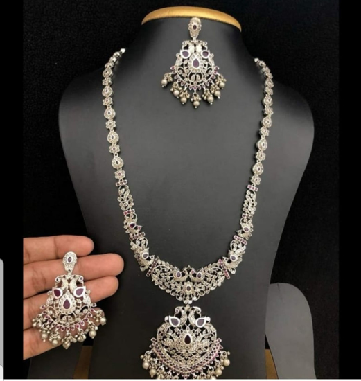 Picture of Premium quality silver finish long chain