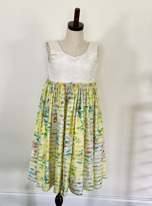 Picture of Floral ruffle kids dress