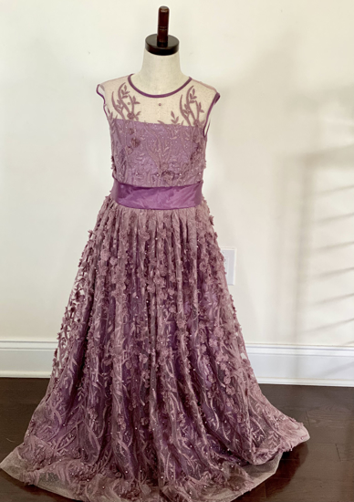 Picture of Soft net long dress