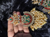 Picture of Brand New Red and Green  Meenakari Earrings