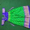 Picture of Ikkat silk kids longfrock 7-9y