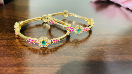 Picture of Brand new Cz bangles set