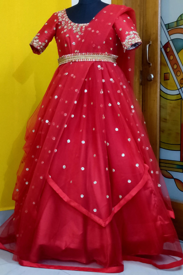 Picture of STUNNING RED LONG FROCK