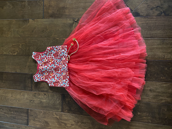 Picture of Red netted crop top - 4-5 years