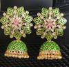 Picture of Brand new Beautiful Green Meenakari earrings