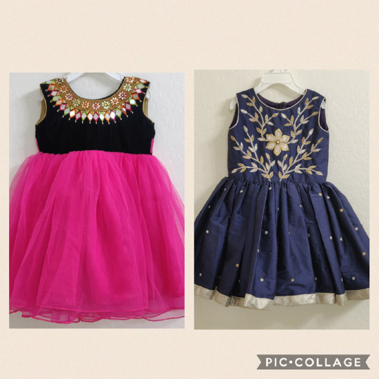 Picture of Beautiful set of 2 year old girl dresses