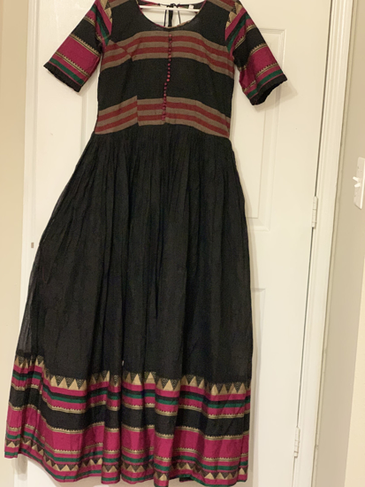 Picture of Black narayanpet Long gown