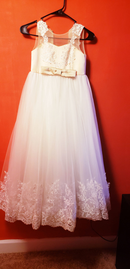 Picture of Beautiful Peach & Ivory Long Party Gown for little Princess