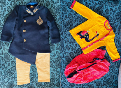 Picture of 1 yr old boy ethnic wear