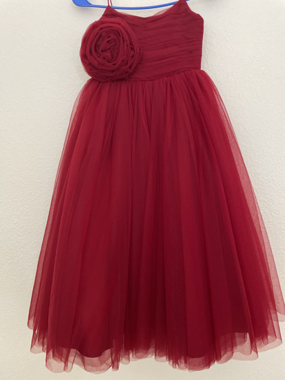 Picture of Maroon ball gown 5-6 years