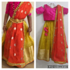 Picture of Beautiful little girl lehenga with two blouses