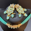 Picture of Premium Kundan Turquoise Color Beads Choker