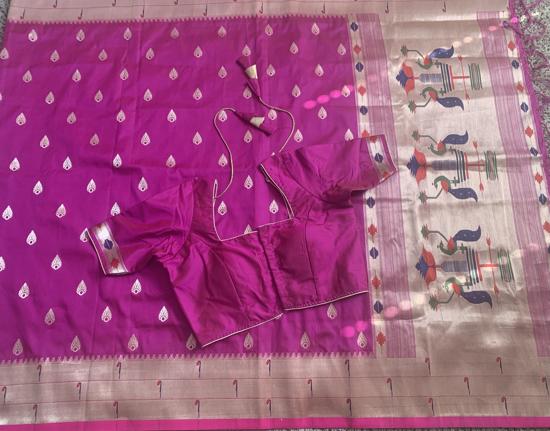 Picture of New semi paithani saree with muniya border…!