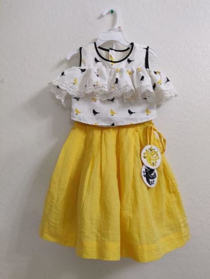 Picture of 2 year old designer crop top skirt