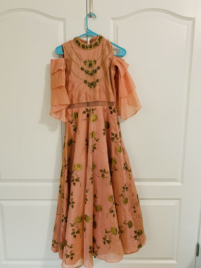 Picture of Girls Indian floor length gown 10y