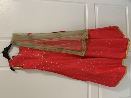 Picture of Indian girl long party wear gown 10y
