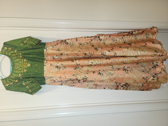 Picture of Pure raw silk long gown