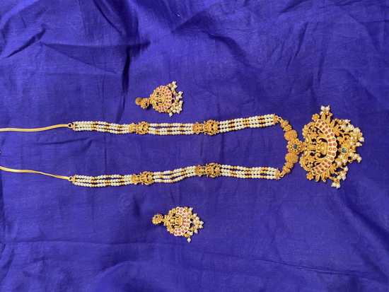 Picture of Antique Long Necklace Set-Temple jewelry