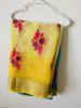 Picture of Yellow and Blue Saree with Blouse