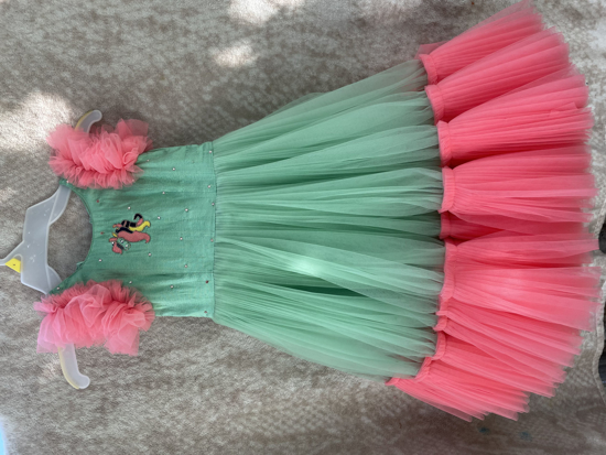 Picture of 2yrs Pink and green Beautiful frock