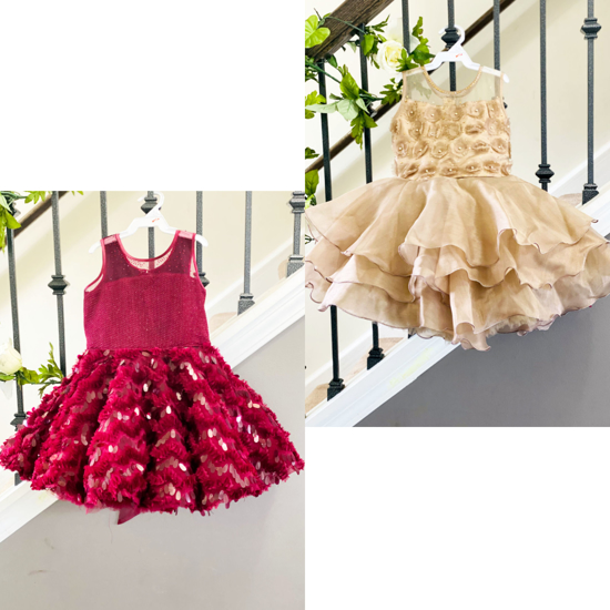 Picture of Combo of kids party wear frocks 2-3y