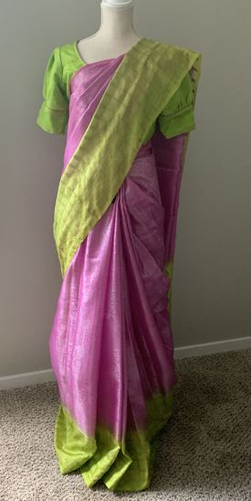 Picture of New benaras tissue saree with silver weaving