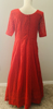 Picture of New red georgette chickenkari long frock …