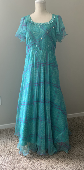Picture of New bandini with mirror embroidery,ruffles hands