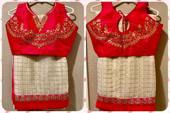 Picture of Brand New: Georgette Saree with designer work blouse