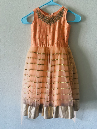 Picture of New Peach color Partywear dress