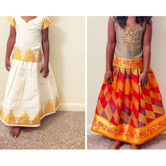 Picture of combo of Pattu langas 4-5 years
