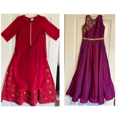 Picture of Long dresses combo for 9 to 10 years girls