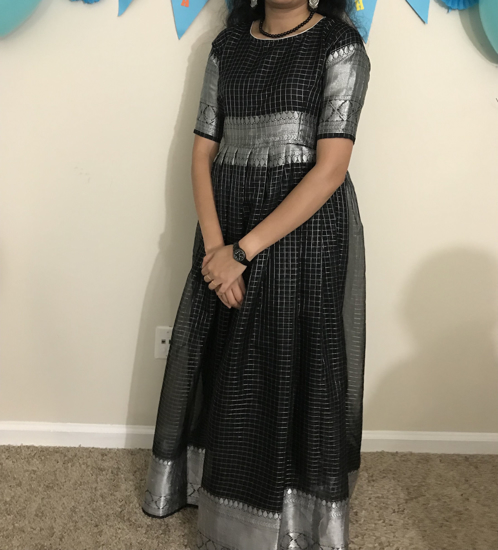 Picture of Black and Silver Long Dress