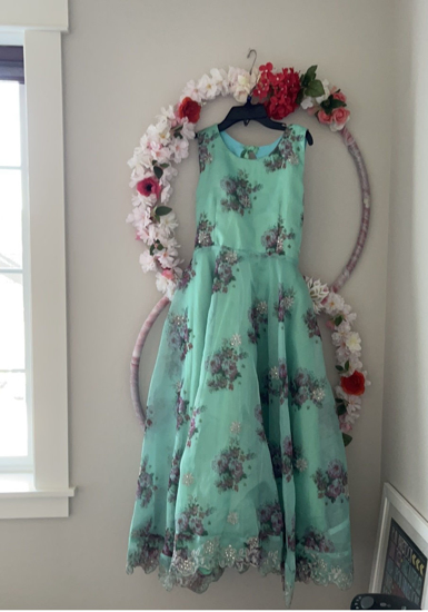 Picture of Floral organza big girls dress 7-10Y