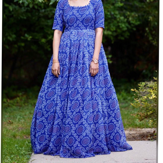Picture of Royal Blue Bandini Dress with Cancan