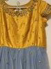 Picture of Beautiful Yellow and gray combination long dress