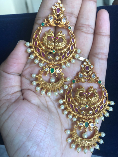 Picture of Temple Jewellery earrings