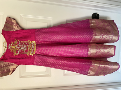 Picture of Pink organza long dress