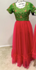 Picture of designer Pink long frock
