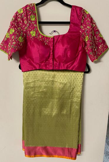 Picture of Brand new banarasi pattu saree with full work blosue