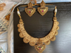 Picture of Brand New Antique Pearl Gold Plated Choker with Earring