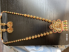 Picture of Brand New Antique Gold plated Mala Necklace with Earrings