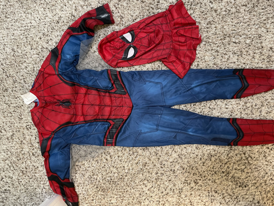 Picture of Halloween Spider Man Costume with a Mask (2-5 Yrs)